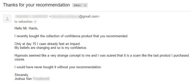 collection of confidence review testimonial 1