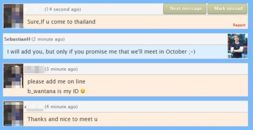 thai freindly date text