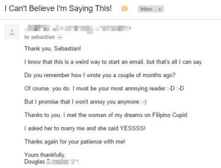 Filipino Cupid Douglas Testimonial