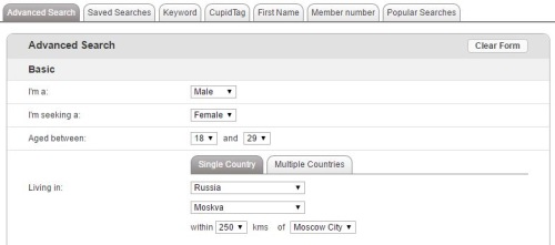 russian cupid advanced search