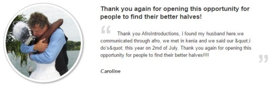 afrointroductions testimonial