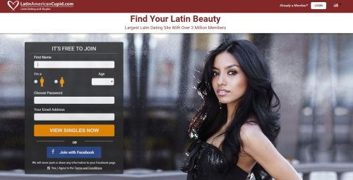 Latin American Cupid Homepage