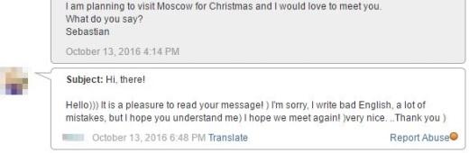 Russian girl with bad english