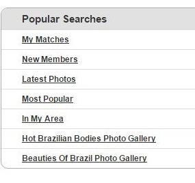 popular searches on Brazil Cupid
