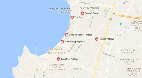 shopping malls in Pattaya