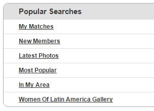 popular search on latinamericancupid.com
