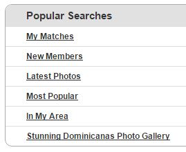 popular searches on Dominicancupid