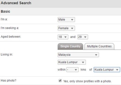 advanced search on malaysiancupid