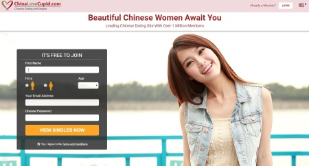 homepage of chinalovecupid.com