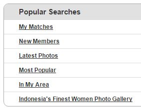 popular searches on Indonesian cupid