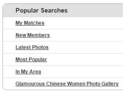 popular searches on chinalovecupid.com