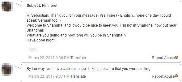 reply from girl in Shanghai