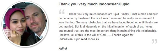 second indonesian cupid testimonial