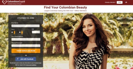 homepage of colombian cupid