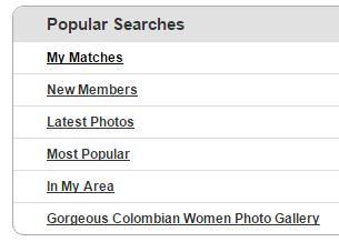 colombiancupid popular searches