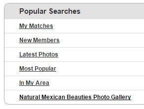 popular searches mexicancupid.com
