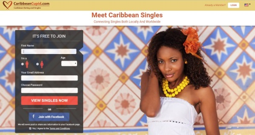 Homepage on Caribbean Cupid