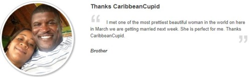 testimonial from caribbeancupid.com