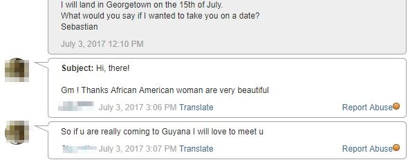 message from Guyanan girl