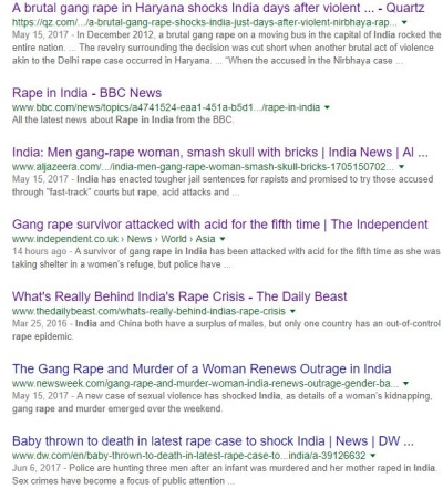 rape google searches india