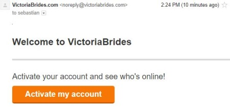 email from victoria brides