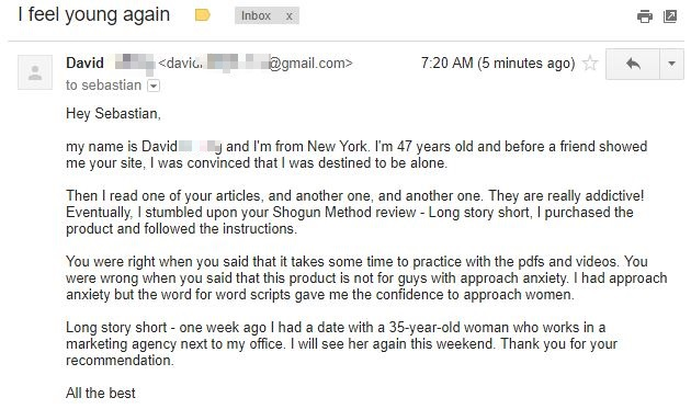 Shogun Method testimonial david