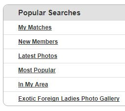 popular searches on internationalcupid.com