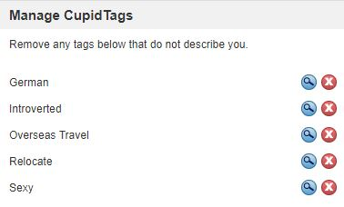 cupid tags on www.bbwcupid.com