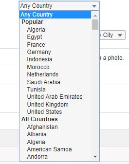 most popular countries on Muslima.com