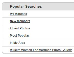 popular searches on Muslima