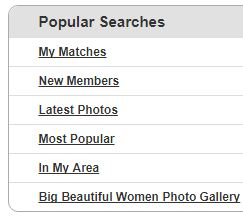 popular searches bbw dating site