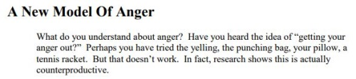 new model of anger