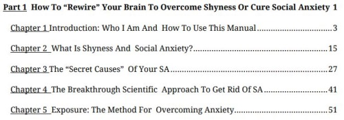 part one of shyness and social anxiety system