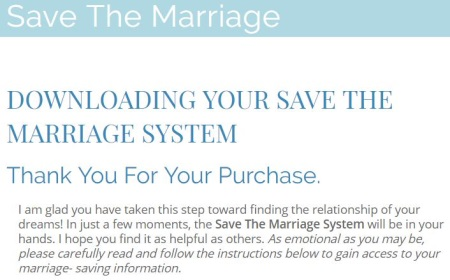 save the marriage system members area