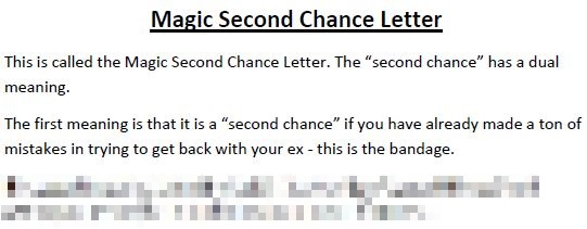 second chance letter