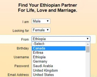 ethiopian personals popular countries