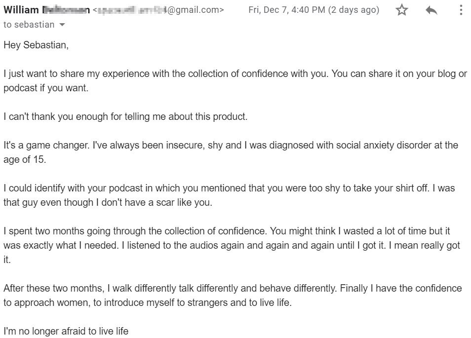 collection of confidence testimonial william