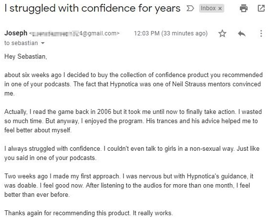 collection of confidence testimonial